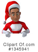 Young Black Male Super Hero Santa Clipart #1345941 by Julos
