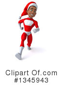 Young Black Male Super Hero Santa Clipart #1345943 by Julos