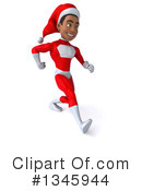 Young Black Male Super Hero Santa Clipart #1345944 by Julos