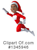 Young Black Male Super Hero Santa Clipart #1345946 by Julos