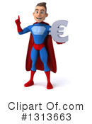 Young Blue And Red Male Super Hero Clipart #1313663 by Julos