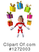 Young Super Hero Santa Clipart #1272003 by Julos