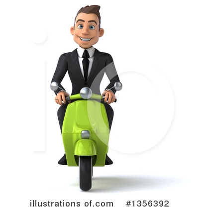 Super White Businessman Clipart #1356392 by Julos