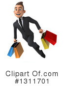 Young White Businessman Clipart #1311701 by Julos