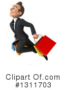 Young White Businessman Clipart #1311703 by Julos