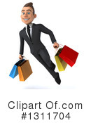 Young White Businessman Clipart #1311704 by Julos