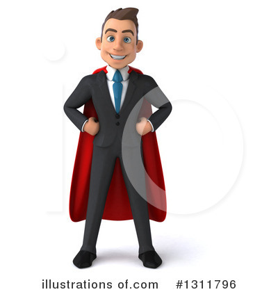 Super White Businessman Clipart #1311796 by Julos