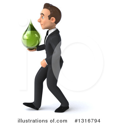 Royalty-Free (RF) Young White Businessman Clipart Illustration by Julos - Stock Sample #1316794