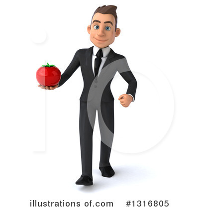 Royalty-Free (RF) Young White Businessman Clipart Illustration by Julos - Stock Sample #1316805