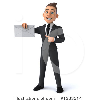 Young White Businessman Clipart #1333514 by Julos