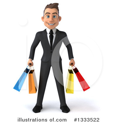 Young White Businessman Clipart #1333522 by Julos