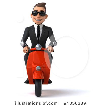 Super White Businessman Clipart #1356389 by Julos