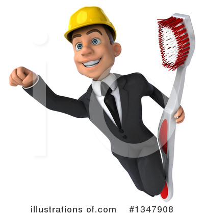 White Male Architect Clipart #1347908 by Julos