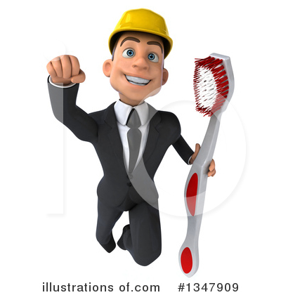 White Male Architect Clipart #1347909 by Julos