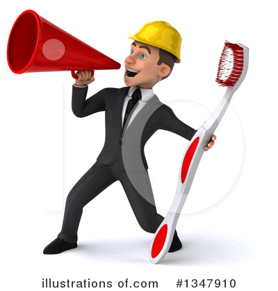 White Male Architect Clipart #1347910 by Julos