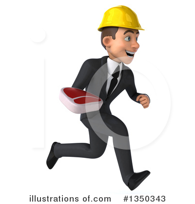 White Male Architect Clipart #1350343 by Julos