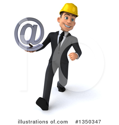 White Male Architect Clipart #1350347 by Julos