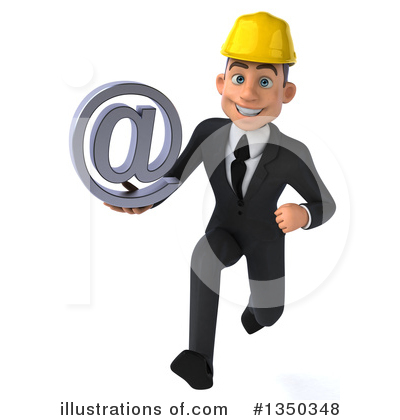 White Male Architect Clipart #1350348 by Julos