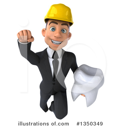 White Male Architect Clipart #1350349 by Julos