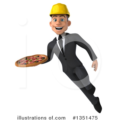 White Male Architect Clipart #1351475 by Julos