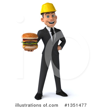 White Male Architect Clipart #1351477 by Julos