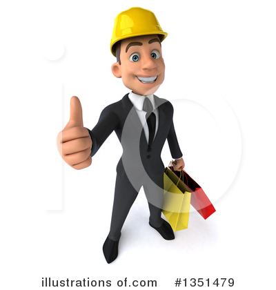 White Male Architect Clipart #1351479 by Julos