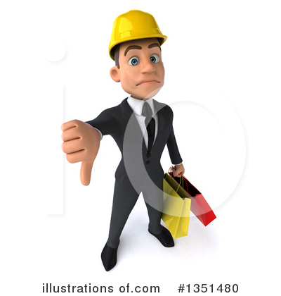 White Male Architect Clipart #1351480 by Julos