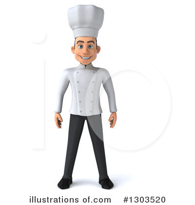 Young White Male Chef Clipart #1303520 by Julos