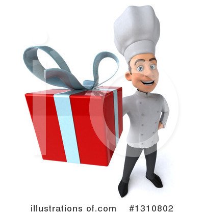 Royalty-Free (RF) Young White Male Chef Clipart Illustration by Julos - Stock Sample #1310802