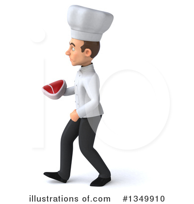 Young White Male Chef Clipart #1349910 by Julos