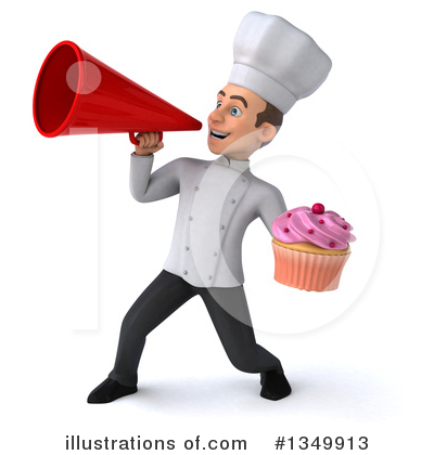 Young White Male Chef Clipart #1349913 by Julos