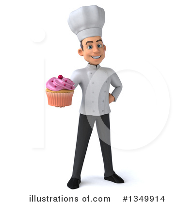 Young White Male Chef Clipart #1349914 by Julos