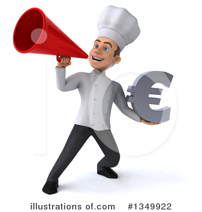 Young White Male Chef Clipart #1349922 by Julos