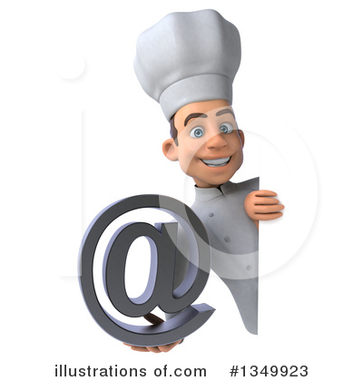 Young White Male Chef Clipart #1349923 by Julos
