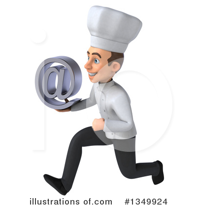 Young White Male Chef Clipart #1349924 by Julos