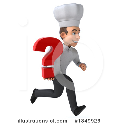 Young White Male Chef Clipart #1349926 by Julos