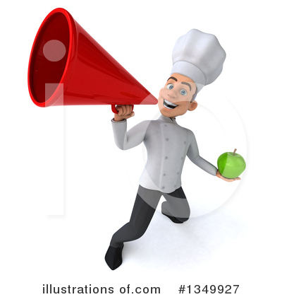 Young White Male Chef Clipart #1349927 by Julos
