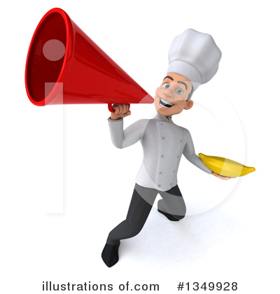 Young White Male Chef Clipart #1349928 by Julos