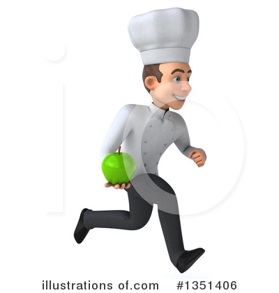 Young White Male Chef Clipart #1351406 by Julos