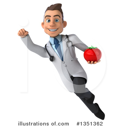 White Male Doctor Clipart #1351362 by Julos