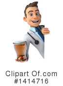 Young White Male Doctor Clipart #1414716 by Julos