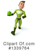 Young White Male Green Super Hero Clipart #1339764 by Julos