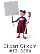 Young White Male Super Hero Mechanic Clipart #1313384 by Julos