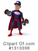 Young White Male Super Hero Mechanic Clipart #1313398 by Julos