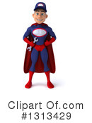 Young White Male Super Hero Mechanic Clipart #1313429