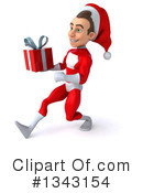 Young White Male Super Hero Santa Clipart #1343154
