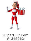 Young White Male Super Hero Santa Clipart #1345063