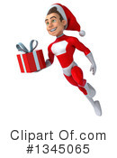 Young White Male Super Hero Santa Clipart #1345065