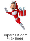 Young White Male Super Hero Santa Clipart #1345066