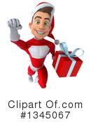 Young White Male Super Hero Santa Clipart #1345067